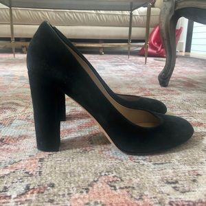 Black Suede J.Crew Pumps